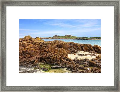 Grandes Rocques Fort - Guernsey Framed Print by Joana Kruse