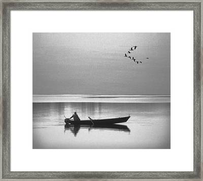 Grandfather Was A Fisherman Framed Print by Daniel Hagerman