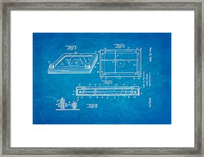 Grandjean Etch A Sketch Patent Art 1962 Blueprint Framed Print by Ian Monk