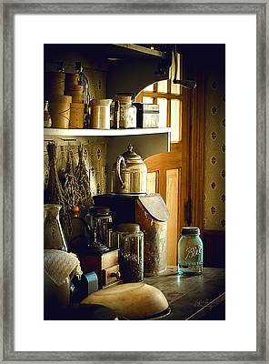 Grandmas Kitchen Framed Print by Julie Palencia