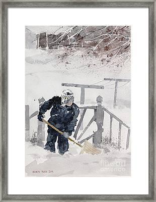 Grandma's Porch Framed Print by Monte Toon