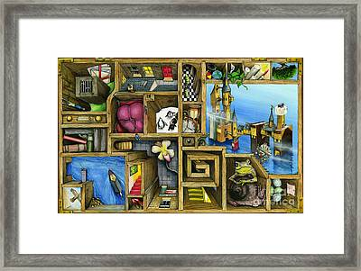 Grandma's Treasure Framed Print by Colin Thompson