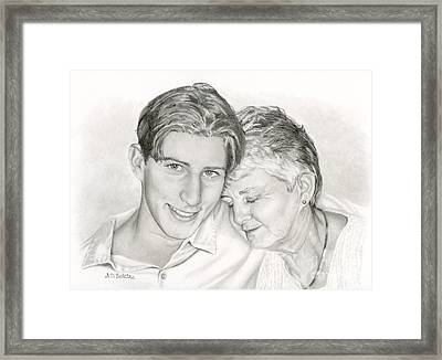 Grandmother And Grandson Framed Print by Sarah Batalka
