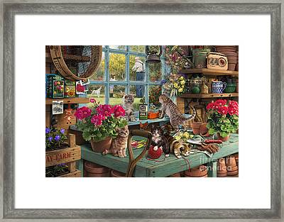 Grandpa's Potting Shed Framed Print by Steve Read