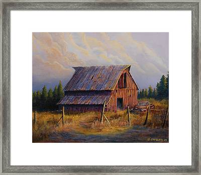Grandpas Truck Framed Print by Jerry McElroy