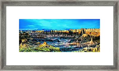 Grandview Viewpoint Grand Canyon Framed Print by Bob and Nadine Johnston