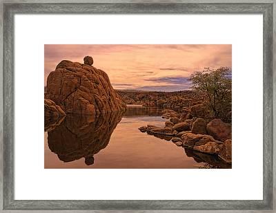 Granite Dells Framed Print by Priscilla Burgers