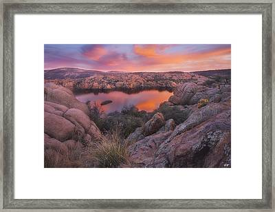 Granite Sorbet Framed Print by Peter Coskun