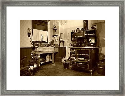 Granny's Kitchen - Sepia Framed Print by Marilyn Wilson