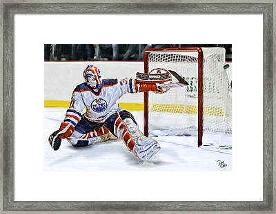 Grant Fuhr Framed Print by Don Olea