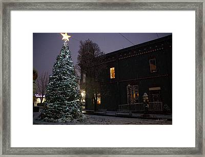 Grants Pass Town Center Christmas Tree Framed Print by Mick Anderson