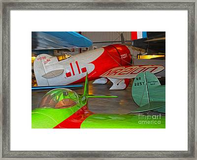 Granville Brothers Gee Bee R-1 Racer Framed Print by Gregory Dyer