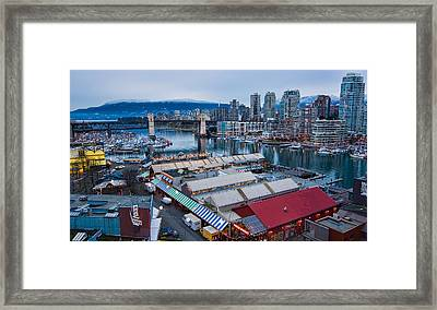 Granville Island Public Market Framed Print by James Wheeler