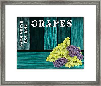 Grape Sign Framed Print by Marvin Blaine