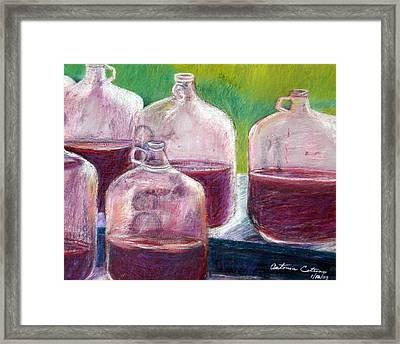 Grape Stomp Residuals Pastel Framed Print by Antonia Citrino