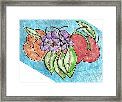 Grapes Framed Print by Becky Sterling