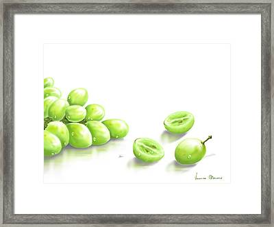 Grapes Framed Print by Veronica Minozzi