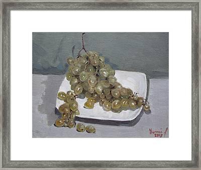 Grapes Framed Print by Ylli Haruni