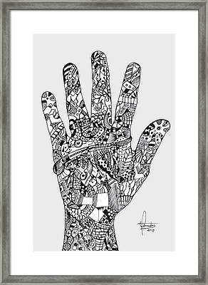 Graphic Hand Framed Print by Yomutan Simoes