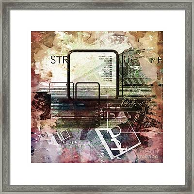 Graphic Square Art Framed Print by Lutz Baar
