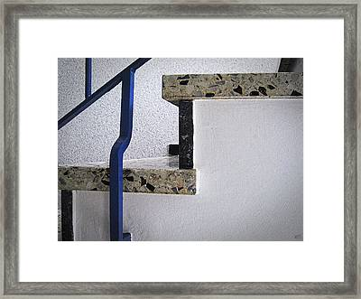 Graphical Stairs Framed Print by Nafets Nuarb