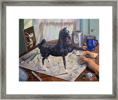 Graphite Resurrection II.i Framed Print by Jeanne Newton Schoborg