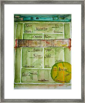 Grass Greats Framed Print by Elaine Duras