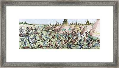 Grattan Massacre, 1854 Framed Print by Granger