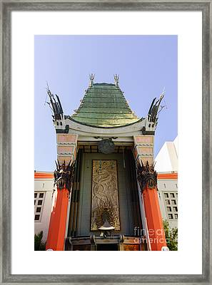 Grauman's Chinese Theatre In Hollywood California Framed Print by Paul Velgos