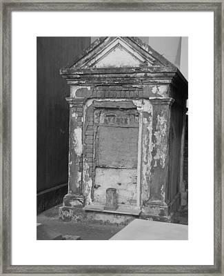 Grave I Framed Print by Beth Vincent
