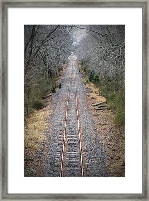 Gravel And Steel Framed Print by Brian Wallace