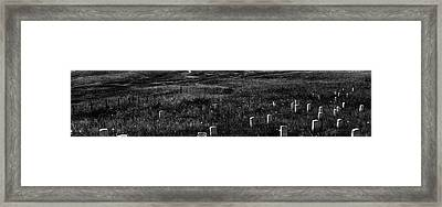Gravestones On Last Stand Hill Framed Print by Panoramic Images