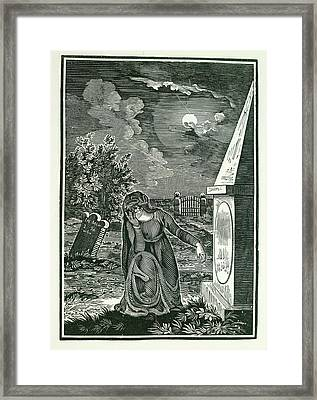 Graveyard Framed Print by British Library