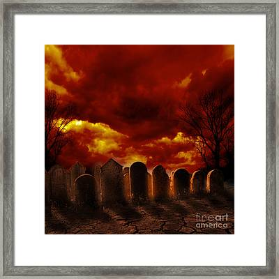 Graveyard Framed Print by Jelena Jovanovic