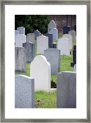 Graveyard Framed Print by Public Health England