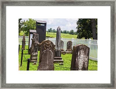 Graveyard Framed Print by Robert Hebert
