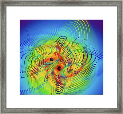 Gravitational Waves Framed Print by Alfred Pasieka