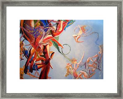 Gravity Framed Print by Georg Douglas