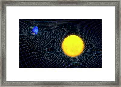 Gravity In Outer Space Framed Print by Andrzej Wojcicki