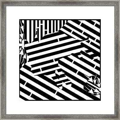 Gravity Induced Cat Nap Maze Framed Print by Yonatan Frimer Maze Artist