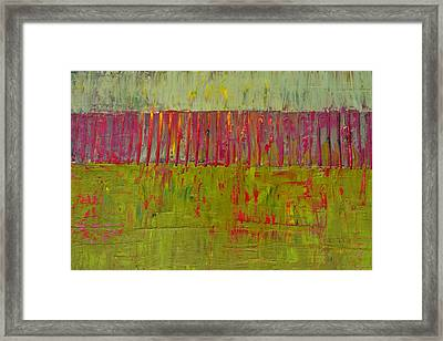 Gray And Green Framed Print by Michelle Calkins