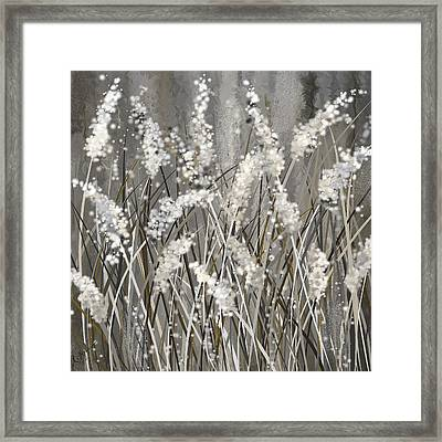 Gray Blossoms- Shades Of Gray Art Framed Print by Lourry Legarde