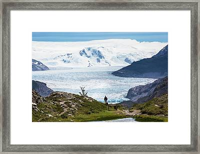 Gray Glacier Framed Print by Peter J. Raymond