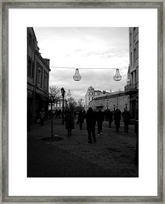 Grayness Framed Print by Lucy D