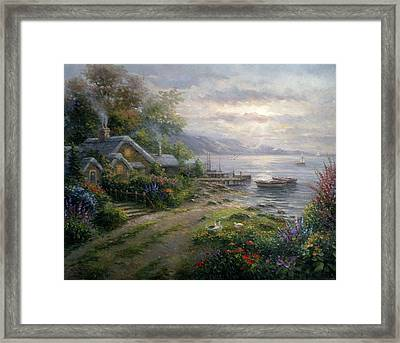 Grazing Fields Framed Print by Ghambaro