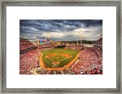 Great American Ballpark Framed Print by Shawn Everhart