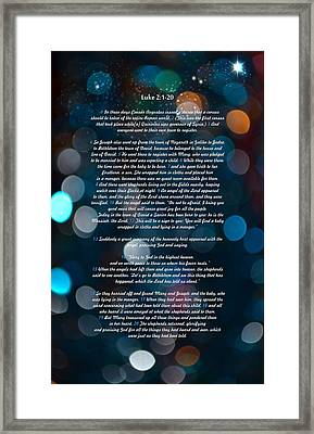 Great Bible Verses For Christmas Framed Print by Irina Effa