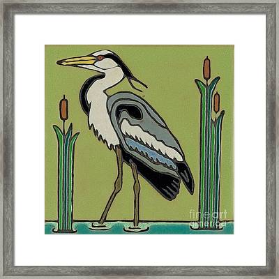 Great Blue Heron Framed Print by Elany  Prusa