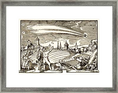 Great Comet Of 1577, Historical Artwork Framed Print by Science Photo Library
