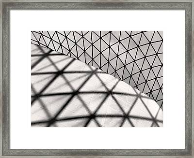 Great Court Abstract Framed Print by Rona Black